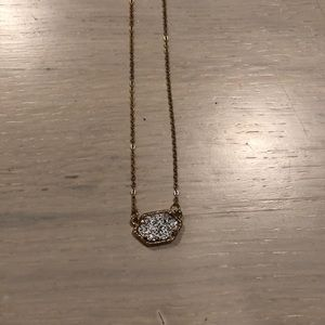 Gold and silver rock necklace